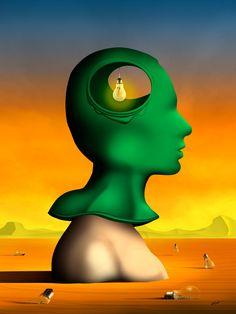 Perfil em Verde.   Marcel Caram