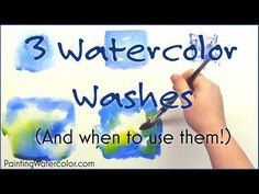 3 Watercolor Washes Watercolor Painting Lesson by Jennifer Branch