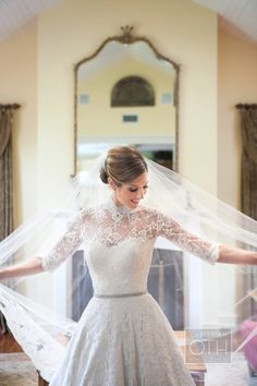 Lace Top Over Strapless Wedding Gown | photography by Sue Kessler | floral design by  flowers by brian | wedding planning by karyn michael events