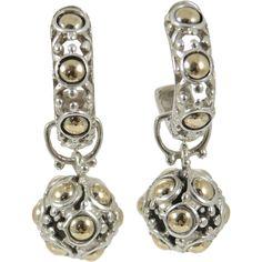 John Hardy Jaisalmer Two-Tone Teardrop Earrings xSLOqHHdMZ
