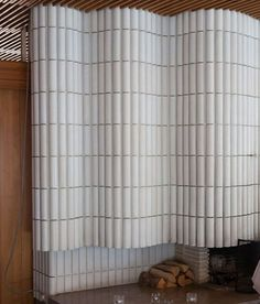 tiles for both powder room or fireplace Fireplace Surrounds, Fireplace Design, Shiplap Fireplace, Interior Walls, Interior And Exterior, Architecture Details, Interior Architecture, Wall Design, House Design