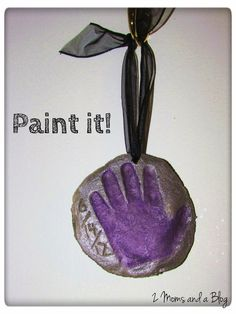 Craft Dough recipe for handprints! Great for Christmas ornament or grandparents day gift, etc.