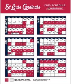 picture about St Louis Cardinals Printable Schedule known as 166 Most straightforward Cardinals in just 2019 visuals Cardinals, St louis