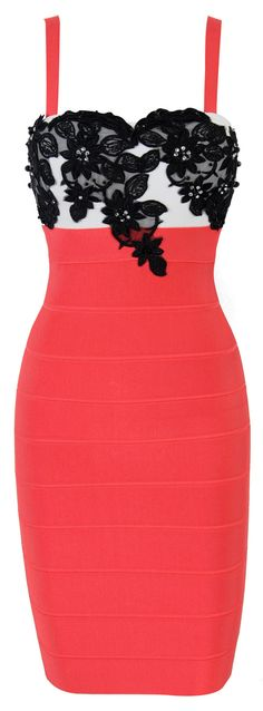 'Ambre' Lace Red Bandage Dress, I love this dress!! so cute!!