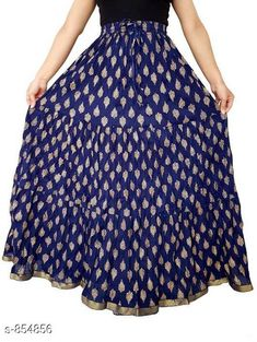 Ethnic Bottomwear - Skirts Stylish Cotton Women's Long Skirt Fabric: Cotton Waist Size: Up To 26 in To 40 in ( Free Size) Length: Up To 39 To 40 in Type: Stitched Description: It Has 1 Piece Of Women's Long Skirt Work: Printed Country of Origin: India Sizes Available: Free Size, 26, 28, 30, 32, 34, 36, 38, 40   Catalog Rating: ★4 (1814)  Catalog Name: Ladies Cotton Printed Long Skirts Vol 15 CatalogID_99049 C74-SC1013 Code: 913-854856-759