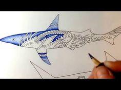 Colored by Julie Bouve - derwent coloursoft pencils - lost ocean - johanna basford - realtime - YouTube