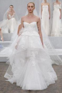 Monique Lhuillier Bridal Spring 2015 / Wedding Style Inspiration / LANE