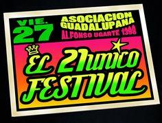 [2011] Flyer del 21único festival  Por: Katia de la Cruz