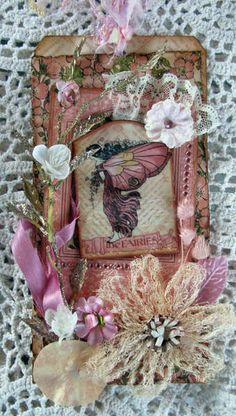 Mixed Media Fairy Tag  ~by Martica -just lovely!