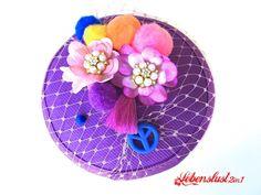 Boho Hippie Headpeace *Julie* Fascinator von Lebenslust2in1 auf DaWanda.com