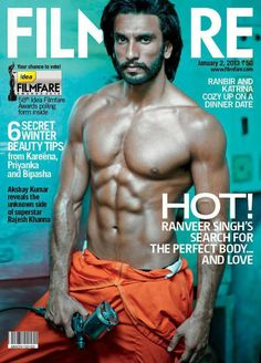 Ranveer Singh Hot Muscles Photoshoot for Filmfare Magazine 2013