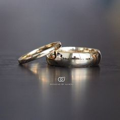 His and Hers Matching Gold Wedding Bands ❤️ #howheasked #allcustomeverything…