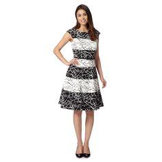 Principles by Ben de Lisi Designer black scratchy print prom dress- at Debenhams.com