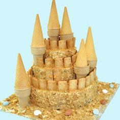 Μια τούρτα γενεθλίων για πάρτυ βγαλμένη από το καλοκαίρι είναι αρκετή για μοναδικές στιγμές στο παιδικό πάρτυ. Η τούρτα παγωτό κάστρο για γενέθλια, θα εντυπωσιάσει όλα τα παιδιά.