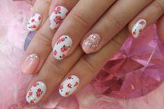 Cherry and sparkle nails × http://pillxprincess.tumblr.com/ × http://amykinz97.tumblr.com/  × https://instagram.com/amykinz97/  × http://super-duper-cutie.tumblr.com/