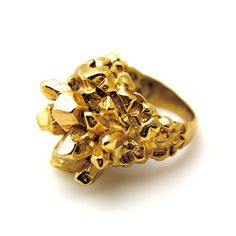 Artist Angela Monaco handcrafted the Pineapple Ring from bronze and plated it in 18-carat gold.