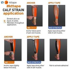 IT WORKS!!! #Repost @kttape with @repostapp.  Calf strain?! Try THIS #kttape app - it will provide support & pain relief. by michelletherunner