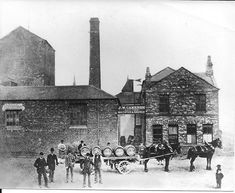 Hartlepool History Then & Now. Camerons Brewery Wagon.