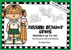 Missing Number Grids Numbers Up To 100 Number Grid Printable