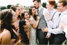 LOVE this shot - unique, candid, and includes bridal party