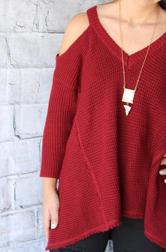 THE PERFECT cold shoulder top and copper dipped necklace with mother of pearl detail. Top also comes in Pumpkin.  ALWAYS fast shipping! 15% Net Profit donated to The Wellhouse- an organization that rescues women from human trafficking  SHOP NOW www.thread2911.com