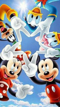 Minnie, mickey & friends disney world pictures mickey mouse wallpaper, disney Arte Do Mickey Mouse, Mickey Mouse Cartoon, Mickey Mouse And Friends, Disney Mickey Mouse, Images Disney, Disney Pictures, Retro Disney, Disney Art, Disney Cartoon Characters