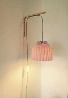 Lampe de chevet applique murale en origami por MinilieOrigami