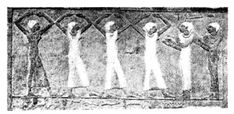 Dancing to the clapping of bands. Egyptian, from the tomb of Ur-ari-en-Ptah, 6th Dynasty, about 3300 B.C. (British Museum.)