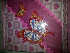 Decoracion con enlace y mariposa
