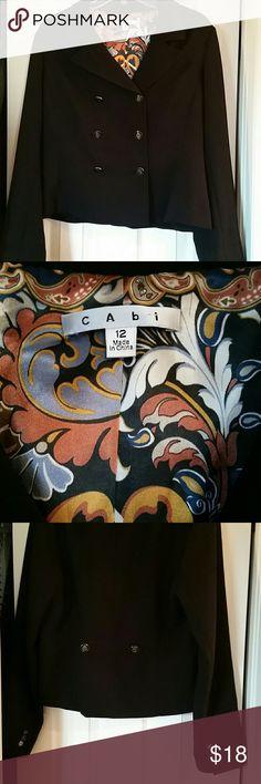 CAbi Crop Blazer Black cropped CAbi blazer with great detailed buttons. CAbi Jackets & Coats Blazers