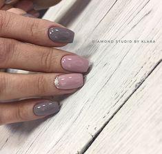 Nails - more incredible snaps of nail ideas. These ingenious article shared on this creative day 20200328 Gray Nails, Pastel Nails, Colorful Nail Designs, Nail Polish Designs, Short Nails Art, Long Nails, Shellac Nails, Nail Manicure, Cute Nails