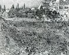 Vincent van Gogh, Garden with Flowers, 1888. Ink on paper, 49 x 61cm…