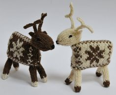 Knitted Reindeer Knitting Pattern