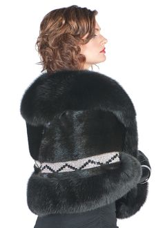What to wear when a touch of Hollywood is called for? This stunning mink wrap with the ultra feminine look of rich,black, mink, topped with a collar and hem of Winter Poncho, Winter Hats, Poncho Coat, Fur Clothing, Mink Fur, Furs, Finland, Denmark, Ranch