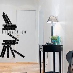 """Diseño de la palabra """"bienvenido"""" en varios idiomas / Design of """"welcome"""" word in several languaje"""
