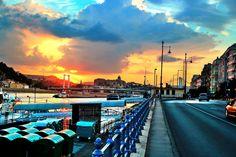 Unreal sunset at Elisabeth Bridge :: Budapest :: photo by Riccsi (Richárd Sárközi) Budapest, Times Square, Bridge, Sunset, Photos, Travel, Pictures, Voyage, Trips