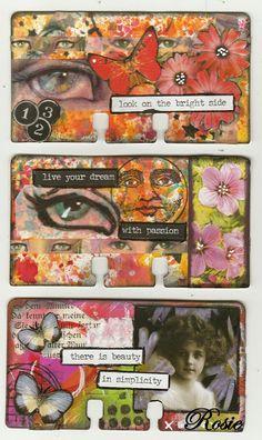 Rosie's Bastelwelt - Rolodex - Flowers - Butterflies