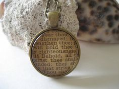 Scripture Necklace Bible Verse Isaiah 41:10-11 from an antique bible - one of a kind by TheVerseWithin, $25.00