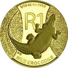 1 Rand Gold Reptilien: Das Krokodil PP
