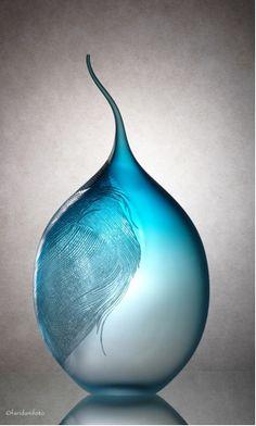 blown glass engraved. June Pham