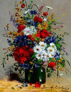 Eugene Henri Cauchois - - My site Beautiful Flower Arrangements, Floral Arrangements, Amazing Flowers, Love Flowers, Art Floral, Flower Vases, Flower Art, Beautiful Paintings, Watercolor Art