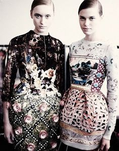 Mixed Prints and Textured Surfaces - dresses by Mary Katrantzou.