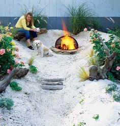 This is awesome!!!!Build a Beach    If distance discourages regular visits to the beach, try turning a corner of your yard into a quirky personal seashore like this one in Sunset's test garden in Menlo Park, California.    How-To:Create your own mini beach.http://www.sunset.com/garden/landscaping-design/how-to-make-backyard-beach-00400000023315/