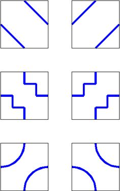 Combining methods 1 and 2 gives a set of two tiles which can be developed a stage further, since the lines do not need to be straight.