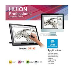 """Touch Screen Monitor Huion GT-190 Professional graphics tablets. Find More LCD Monitors Information about New Huion GT 190 19"""" Interactive Graphics Tablet Monitor Professional Animation Monitor Pen Touch Screen Panel Pen Touch Monitor,High Quality LCD Monitors from Huion Animation Technology Co., Ltd. on Aliexpress.com"""