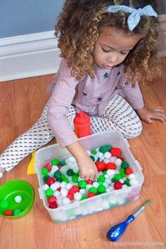 Frozen Pom Poms – HAPPY TODDLER PLAYTIME