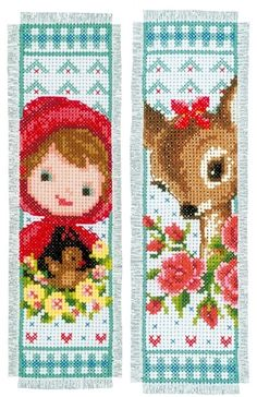Bambi and Red Riding Hood Bookmarks (set of 2) - (KIT)