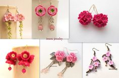 #Pink is the colour of 2016. Romantic earrings for every occasion. #earrings #handmadejewelry #pinkjewelry #insoujewelry www.etsy.com/shop/insoujewelry