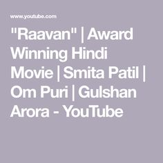 """Raavan"" 