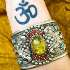 LAST FEW HOURS OF OUR JANUARY SALE! Our beautiful Yellow Flame Cuff is in our sale!!! ॐ www.ohmboho.com ॐ